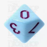 TDSO Pastel Opaque Blue & Purple D10 Dice