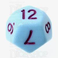 TDSO Pastel Opaque Blue & Purple D12 Dice
