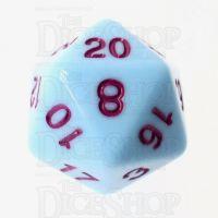 TDSO Pastel Opaque Blue & Purple D20 Dice