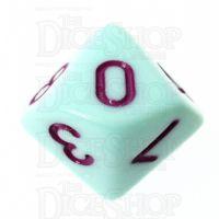 TDSO Pastel Opaque Mint & Purple D10 Dice