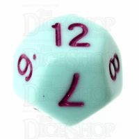 TDSO Pastel Opaque Mint & Purple D12 Dice