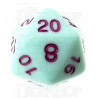 TDSO Pastel Opaque Mint & Purple D20 Dice
