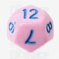TDSO Pastel Opaque Pink & Blue D12 Dice