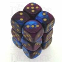 Chessex Gemini Blue & Purple 12 x D6 Dice Set