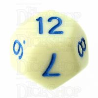 TDSO Pastel Opaque Yellow & Blue D12 Dice