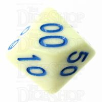 TDSO Pastel Opaque Yellow & Blue Percentile Dice