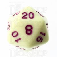 TDSO Pastel Opaque Yellow & Purple D20 Dice