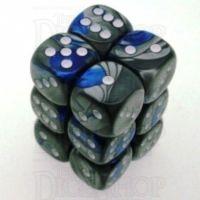 Chessex Gemini Blue & Steel 12 x D6 Dice Set