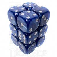 CLEARANCE D&G Pearl Blue & Sliver 12 x D6 Dice Set