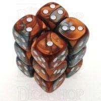 Chessex Gemini Copper & Steel 12 x D6 Dice Set
