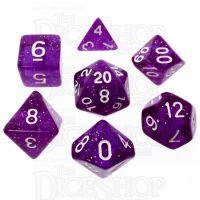 TDSO Glitter Purple 7 Dice Polyset