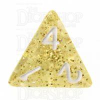 TDSO Glitter Gold D4 Dice