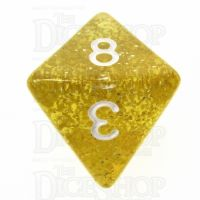 TDSO Glitter Gold D8 Dice