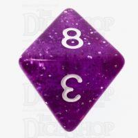 TDSO Glitter Purple D8 Dice
