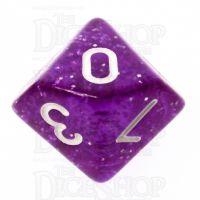 TDSO Glitter Purple D10 Dice