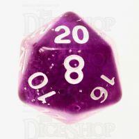 TDSO Glitter Purple D20 Dice