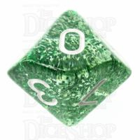 TDSO Glitter Green D10 Dice