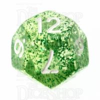TDSO Glitter Green D12 Dice