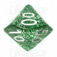 TDSO Glitter Green Percentile Dice