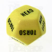 CLEARANCE D&G Opaque Yellow Hit Location D12 Dice