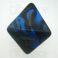 D&G Oblivion Blue & Black D8 Dice