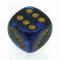 Chessex Gemini Black & Blue 16mm D6 Spot Dice