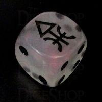 CLEARANCE D&G Moonstone Red Arrow Logo D6 Spot Dice SECONDS