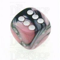 Chessex Gemini Black & Pink 16mm D6 Spot Dice