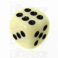 CLEARANCE TDSO Opaque Ivory 16mm D6 Spot Dice