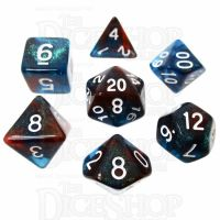 TDSO Photo Reactive Blue & Red 7 Dice Polyset