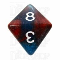 TDSO Photo Reactive Blue & Red D8 Dice