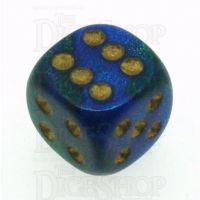 Chessex Gemini Blue & Green 16mm D6 Spot Dice