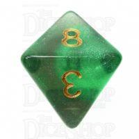 TDSO Photo Reactive Green & Grey D8 Dice