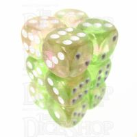 TDSO Photo Reactive Green & Pink 12 x D6 Dice Set