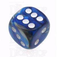 Chessex Gemini Blue & Steel 16mm D6 Spot Dice