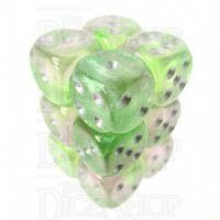 TDSO Photo Reactive Green & Purple 12 x D6 Dice Se