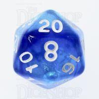 TDSO Photo Reactive Sapphire & Blue D20 Dice