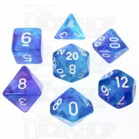 TDSO Photo Reactive Blue & Purple 7 Dice Polyset
