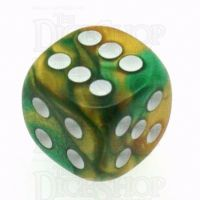 Chessex Gemini Gold & Green 16mm D6 Spot Dice