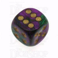 Chessex Gemini Green & Purple 16mm D6 Spot Dice