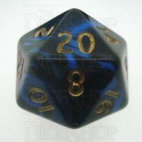 D&G Oblivion Blue & Black D20 Dice