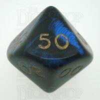 D&G Oblivion Blue & Black Percentile Dice