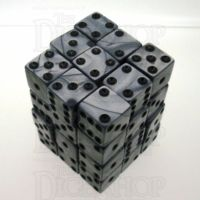 Koplow Olympic Silver Square Cornered 36 x D6 Dice Set