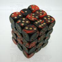 D&G Oblivion Red & Black 36 x D6 Dice Set