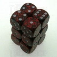 Chessex Speckled Silver Volcano 12 x D6 Dice Set