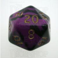D&G Oblivion Purple & Black D20 Dice