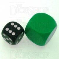 D&G Opaque Blank Green JUMBO 22mm D6 Dice