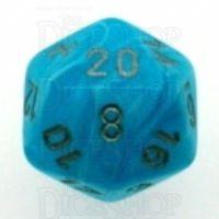 Chessex Cirrus Aqua D20 Dice