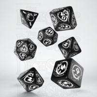 Q Workshop Dragon Black & White 7 Dice Polyset