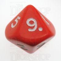 D&G Opaque Red D10 Dice